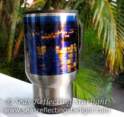 Lantern Floating Festival travel mug