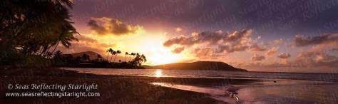 Hanauma Sunrise Panorama  by Seas Reflecting Starlight