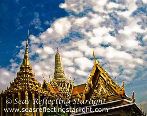 Spires of Wat Phra Kaew by Seas Reflecting Starlight