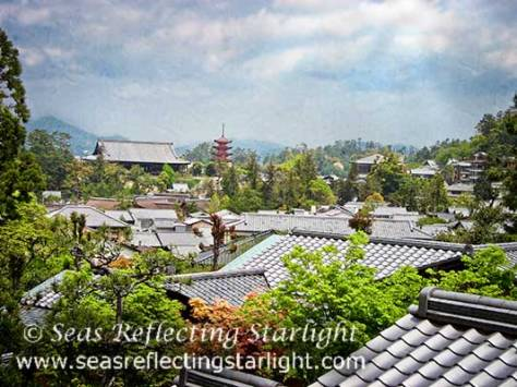 View Over Miyajima Village by Seas Reflecting Starlight
