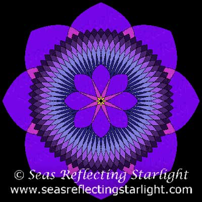 Tripartite 80 Petal Purple Lotus by  Seas Reflecting Starlight