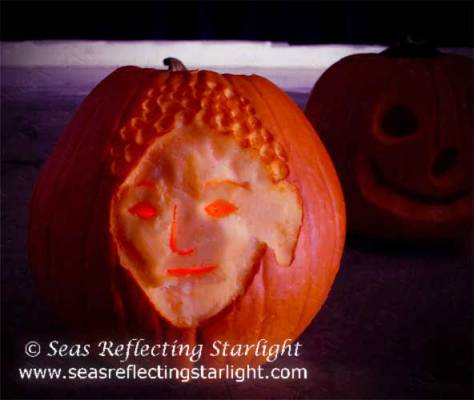 Light Of Amida Pumpkin by Seas Reflecting Starlight
